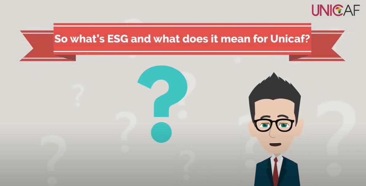 What does ESG mean for Unicaf?