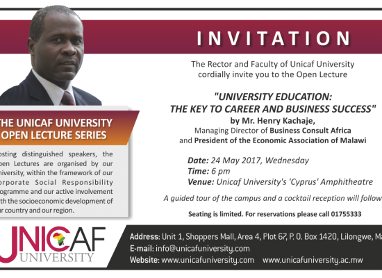The Unicaf University Open Lecture Series