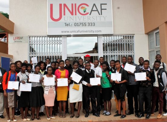 New Groups of Secondary School Graduates Benefit from Free Computer Lessons at Unicaf University Malawi